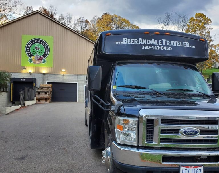 beer and ale traveler mini bus at broad run corner in ohio amish country